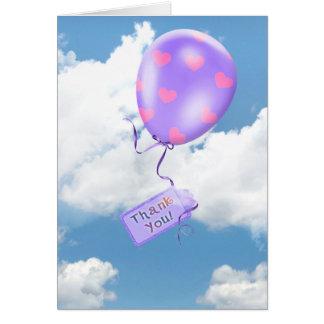 Cartão Obrigado Balloon