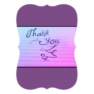 Cartão Obrigado belamente projetado você nota