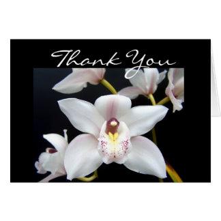 Cartão Obrigado bonito da orquídea você
