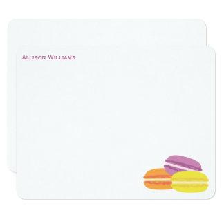 Cartão Obrigado bonito de Macarons do francês você notas