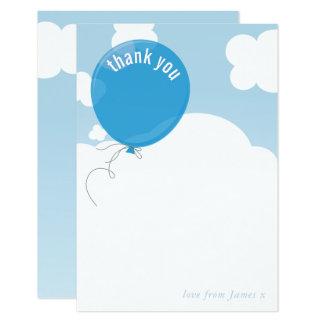 Cartão Obrigado bonito do BALÃO CORAJOSO você nota o céu