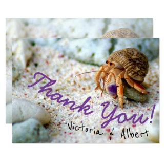 Cartão Obrigado bonito do casamento de praia do