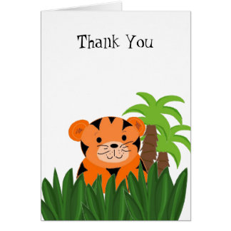 Cartão Obrigado bonito do tigre você
