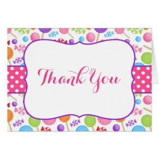 Cartão Obrigado bonito dos doces você