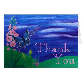 Cartão Obrigado borboleta