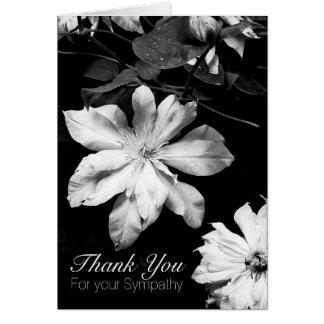 Cartão Obrigado branco da simpatia do Clematis 1 você