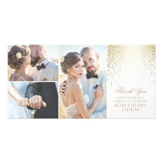 Cartão Obrigado branco do casamento do encanto dos