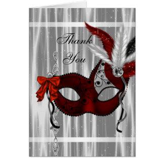 Cartão Obrigado branco preto vermelho do partido do