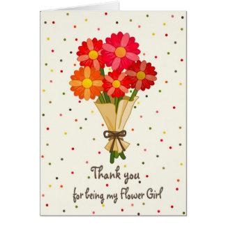 Cartão Obrigado buquê do florista das flores