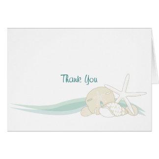 Cartão Obrigado calmo dos Seashells você