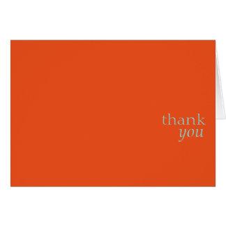 Cartão Obrigado card.orange