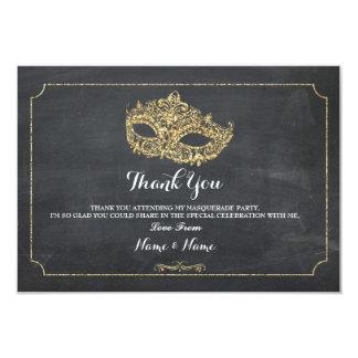 Cartão Obrigado carda o brilho do partido da máscara do