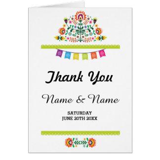Cartão Obrigado carda o casamento nupcial da festa