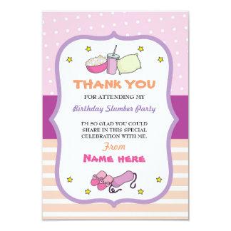Cartão Obrigado carda o sono do aniversário do partido de