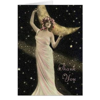 Cartão Obrigado celestial da rainha do drama você