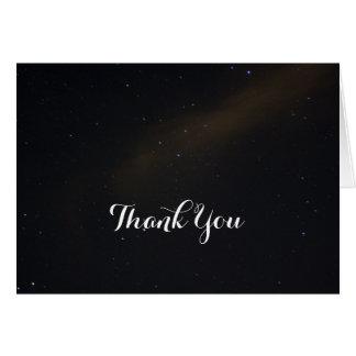 Cartão Obrigado celestial dos sonhos você
