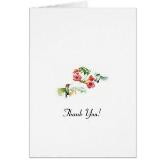 Cartão Obrigado! - Colibri