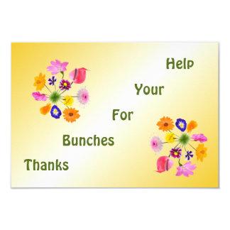Cartão Obrigado com flores