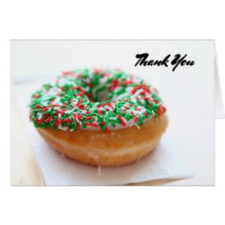 Cartão Obrigado com imagem da rosquinha