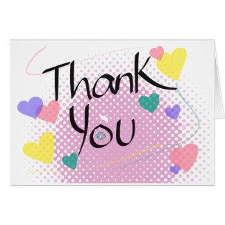 Cartão Obrigado com lotes do ~ do amor