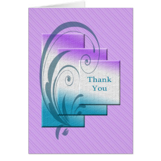 Cartão Obrigado, com retângulos elegantes