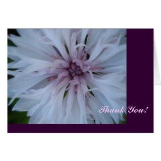 Cartão Obrigado cor-de-rosa