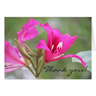 Cartão Obrigado cor-de-rosa da flor você