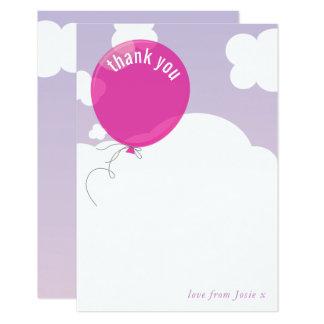 Cartão Obrigado CORAJOSO do BALÃO você nota o rosa roxo