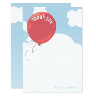 Cartão Obrigado CORAJOSO do BALÃO você nota o vermelho do