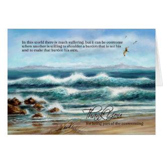 Cartão Obrigado cuidador no Dia dos doutores ou nutre o