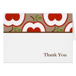 Cartão Obrigado da apreciação do professor você notas