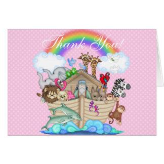Cartão Obrigado da arca de Noah você notas