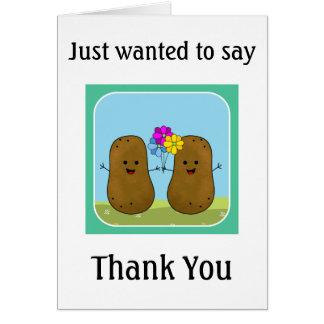 Cartão Obrigado da batata você