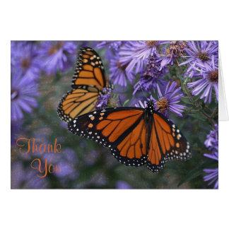 Cartão Obrigado da borboleta de monarca você