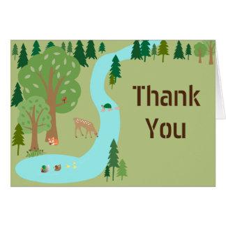 Cartão Obrigado da cena da natureza de animais da