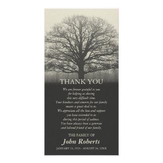Cartão Obrigado da cerimonia comemorativa da silhueta da