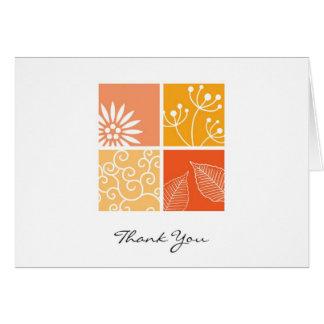 Cartão Obrigado da colagem dos Wildflowers você