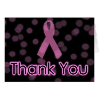 Cartão Obrigado da consciência do cancro da mama você
