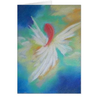 Cartão Obrigado da enfermeira do anjo você