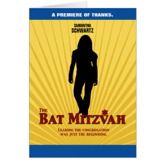 Cartão Obrigado da estrela de cinema de Mitzvah do bastão