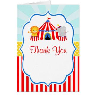 Cartão Obrigado da festa de aniversário do carnaval do