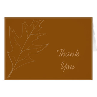 Cartão Obrigado da folha do carvalho da queda você
