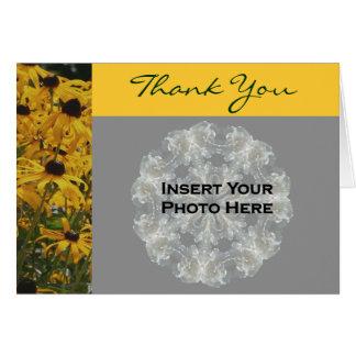 Cartão Obrigado da foto do casamento da flor de Susan de