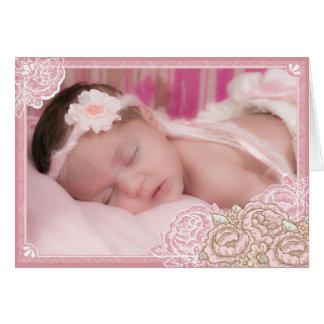 Cartão Obrigado da foto dos rosas da couve do vintage