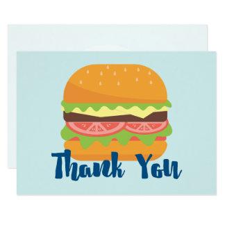 Cartão Obrigado da ilustração do Hamburger você