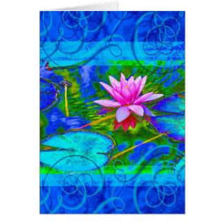 Cartão Obrigado da ioga de Namaste você flor elegante de