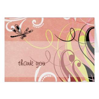 Cartão Obrigado da libélula você