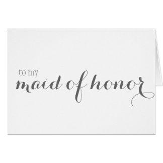 Cartão Obrigado da madrinha de casamento você