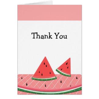 Cartão Obrigado da melancia você