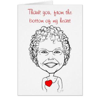 Cartão Obrigado da parte inferior de meu coração -
